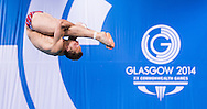 Cody Yano during men's 3m springboard diving preliminaries  at the Royal Commonwealth Pool at the XX Commonwealth Games in Edinburgh, Scotland on July 30, 2014.