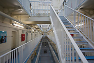 The B Wing facility for newly-arrived prisoners at HMP Liverpool, also known as Walton Prison. The prison was given a scathing report in 2017 which pointed out various failings and problems. Present governor Pia Sinha was appointed in that year and in the next two years she turned the prison around with a programme of improvements and support for inmates and infrastructure. HMP Liverpool houses a maximum of 700 prisoners with an overall staff of around 250.