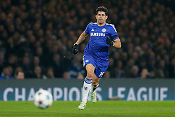 Diego Costa of Chelsea in action - Photo mandatory by-line: Rogan Thomson/JMP - 07966 386802 - 11/03/2015 - SPORT - FOOTBALL - London, England - Stamford Bridge - Chelsea v Paris Saint-Germain - UEFA Champions League Round of 16 Second Leg.
