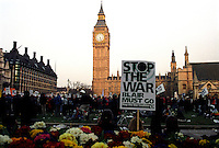 Demonstration through Central london from  to end occupation of Iraq & palestine 2003.