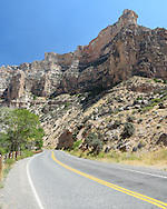 Highway 14 winds through Shell Canyon on the west side of the Bighorn Mountains.