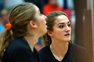 Vale sophomore Dallie Johnson during the 2015 OSAA 3A Volleyball State Championship, Round 1, Vale - St. Mary's at  Vale High School, Vale, Oregon. October 31, 2015.<br /> <br /> Vale defeated St. Mary's of Medford in three games 25-10,  25-8, 25-13, improving their season record to 24-2.