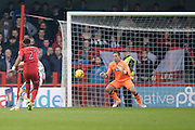 Add Yussuf from Crowley Town takes shot at goal during the EFL Sky Bet League 2 match between Crawley Town and Grimsby Town FC at the Checkatrade.com Stadium, Crawley, England on 26 November 2016. Photo by Jarrod Moore.