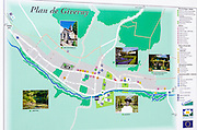Town map, Giverny, Normandy, France