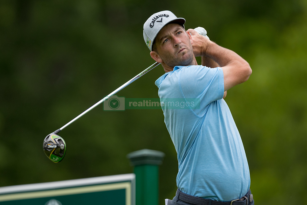 May 30, 2019 - Dublin, OH, U.S. - DUBLIN, OH - MAY 30: Matt Every plays his shot from the 18th tee during the Memorial Tournament presented by Nationwide at Muirfield Village Golf Club on May 30, 2018 in Dublin, Ohio. (Photo by Adam Lacy/Icon Sportswire) (Credit Image: © Adam Lacy/Icon SMI via ZUMA Press)