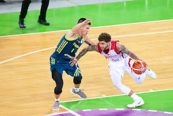 Matic Rebec of Slovenia and Metin Turen of Turkey during basketball match between National teams of Slovenia and Turkey in Round #8 of FIBA Basketball World Cup 2019 European Qualifiers, on September 17, 2018 in Arena Stozice, Ljubljana, Slovenia. Photo by Urban Urbanc / Sportida