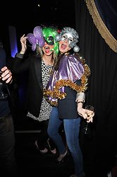 Left to right, PRU MILLIGAN and ANNA GADD at the launch party for the new nightclub Public at 533 Kings Road, London on 2nd December 2010.