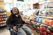 Eric LeGrand, SUBWAY Famous Fan and former Rutgers football player, orders his favorite SUBWAY sandwich after welcoming 2014 draft prospect Anthony Barr as the newest Famous Fan, Wednesday, May 7, 2014, in New York.  Barr joins a roster of fellow Famous Fans that include Robert Griffin III, Justin Tuck, Russell Westbrook, Pele and Michael Phelps. (Photo by Diane Bondareff/Invision for SUBWAY/AP Images)