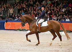 Ter Brugge Sophie, (NED), Floris BS<br /> Finale Gelders Paard<br /> KWPN Hengstenkeuring - 's Hertogenbosch 2016<br /> © Hippo Foto - Dirk Caremans<br /> 06/02/16