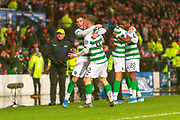 Callum McGregor of Celtic FC celebrates winning the Betfred Scottish League Cup during the Betfred Scottish League Cup Final match between Rangers and Celtic at Hampden Park, Glasgow, United Kingdom on 8 December 2019.