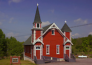Northcentral Pennsylvania, historic Red Church, Methodist, Wellsboro, PA