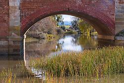 View through The Red Bridge, Campbell Town, Tasmania.