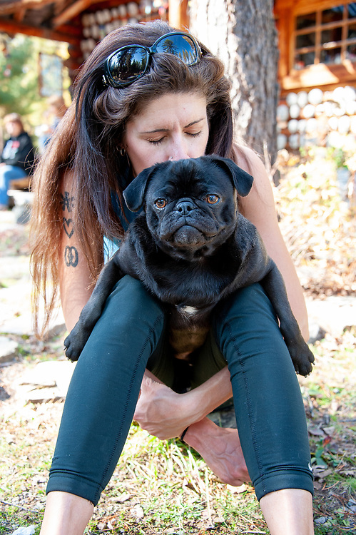 Christine Phillips and her pug Bronson