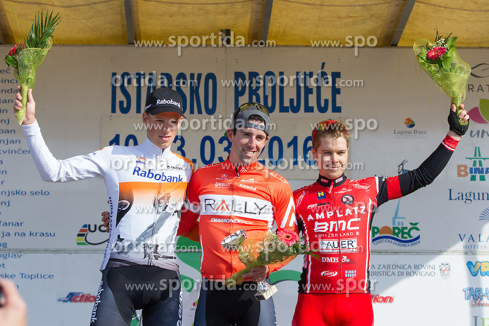 Flower ceremony after the 13th Istrian Spring Trophy on March 10, 2016 in Umag, Croatia. (Photo by Ziga Zupan / Sportida)