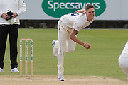 Brydon Carse bowling during the Specsavers County Champ Div 2 match between Durham County Cricket Club and Leicestershire County Cricket Club at the Emirates Durham ICG Ground, Chester-le-Street, United Kingdom on 20 August 2019.