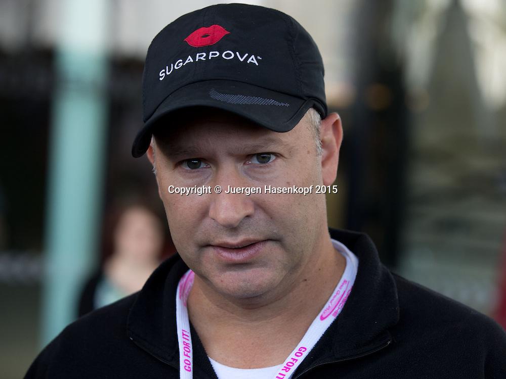 Max Eisenbud, Sharapova Manager und IMG Vice President of Tennis, <br /> Tennis - Porsche Grand Prix - WTA -   - Stuttgart -  - Germany  - 21 April 2015. <br /> &copy; Juergen Hasenkopf
