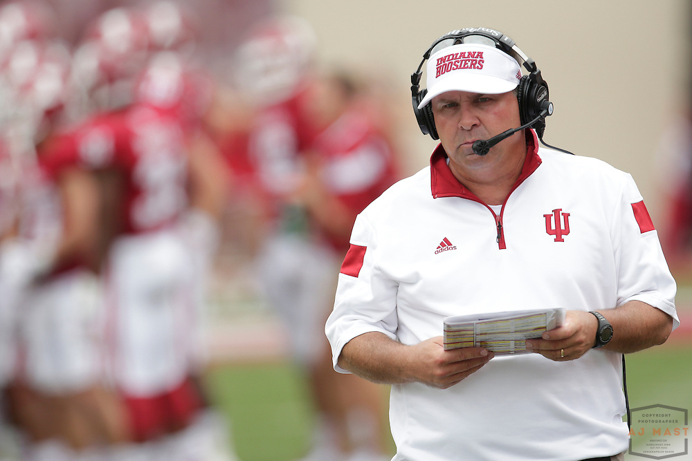 Indiana Hoosiers head coach Kevin Wilson as the Indiana Hoosiers played the Indiana State Sycamores in a college football game in Bloomington, IN.
