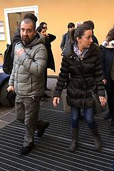 I FIGLI DI VALERIO VERRI ESCONO PERPLESSI DALL'AULA DOPO IL RINVIO<br /> UDIENZA PROCESSO IGOR VACLAVIC NORBERT FEHER BOLOGNA