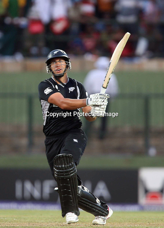 Ross Taylor during his century innings at the ICC Cricket World Cup. New Zealand vs Paksitan.Pallekele Cricket Stadium, Kandy, Sri Lanka.Tuesday 8 March 2011. Photo: photosport.co.nz