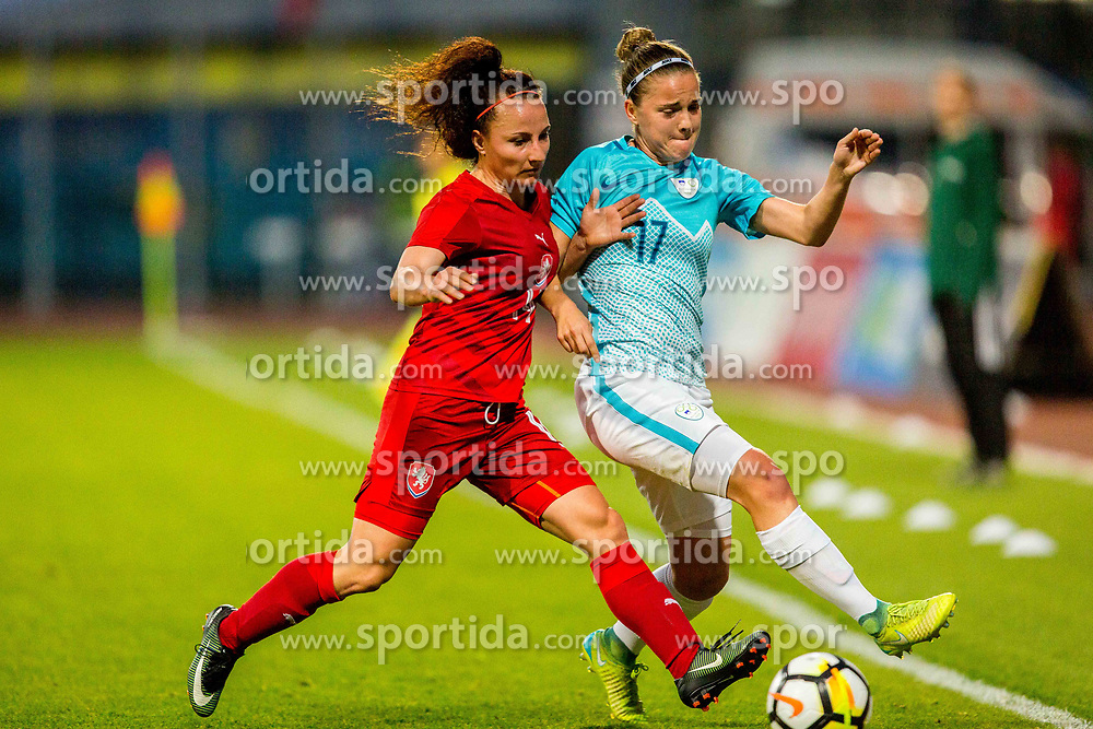 Anja Prsa of Slovenia during football match between Slovenia and Czech Republic in Womens Qualifications for World Championship 2019, on October 20, 2017 in Stadion Domzale, Domzale, Slovenia. Photo by Ziga Zupan / Sportida