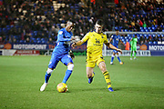 Peterborough United midfielder Siriki Dembele (10) trying to get into the box during the EFL Sky Bet League 1 match between Peterborough United and Oxford United at London Road, Peterborough, England on 8 December 2018.