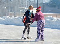 Skating Party at Memorial Park Rink with Laconia Parks and Recreation.  Karen Bobotas for the Laconia Daily Sun