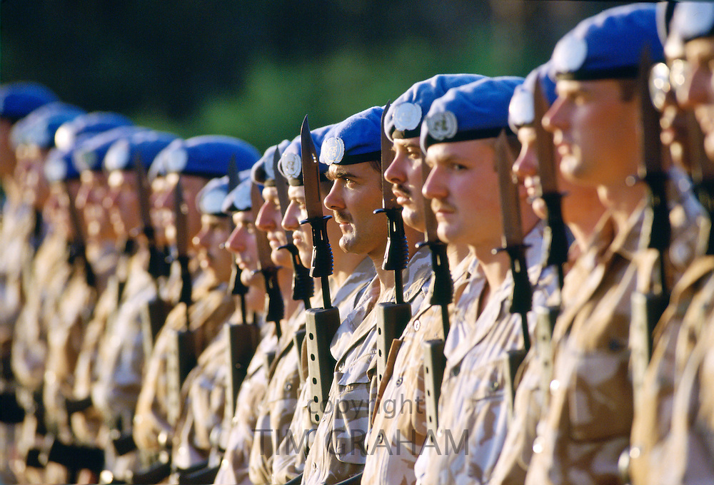 United Nations UN Troops in Cyprus.