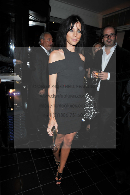 LIBERTY ROSS at a dinner hosted by Alexandra Shulman editor of British Vogue in association with Net-A-Porter.com to celebrate 25 years of London Fashion Week and Nick Knight held at Le Caprice, Arlington Street, London on 21st September 2009.