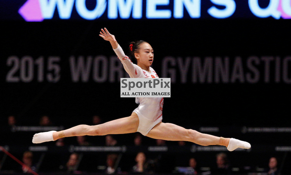 2015 Artistic Gymnastics World Championships being held in Glasgow from 23rd October to 1st November 2015...YI Mao (Peoples Republic of China) competing in the Floor Exercise competition...(c) STEPHEN LAWSON | SportPix.org.uk