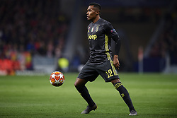 February 20, 2019 - Madrid, Madrid, Spain - Alex Sandro Lobo Silva of Juventus controls the ball during the UEFA Champions League Round of 16 first leg match between Ateltico Madrid and Juventus at Wanda Metropolitano Stadium on February 20, 2019 in Madrid. (Credit Image: © Jose Breton/NurPhoto via ZUMA Press)