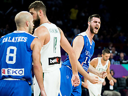 Georgios Papagiannis of Greece reacts during basketball match between National Teams of Lithuania and Greece at Day 10 in Round of 16 of the FIBA EuroBasket 2017 at Sinan Erdem Dome in Istanbul, Turkey on September 9, 2017. Photo by Vid Ponikvar / Sportida