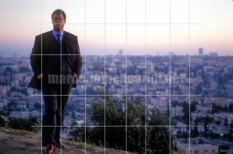 Jerusalem, 1991. Israeli conductor Daniel Oren with Jerusalem panorama in the background / Gerusalemme, 1991. Il direttore d'orchestra Daniel Oren con il panorama di Gerusalemme sullo sfondo - © Marcello Mencarini