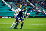 Jane Ross (#13) of Scotland shields the ball from a throw-in during the Women's Euro Qualifiers match between Scotland Women and Cyprus Women at Easter Road, Edinburgh, Scotland on 30 August 2019.
