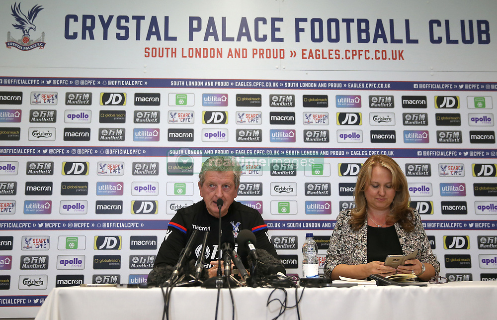 New Crystal Palace manager Roy Hodgson during a press conference at The Goals Soccer Centre, Beckenham.