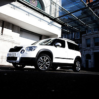 Skoda Yeti Urban.23rd February 2012.London.Images copyright Malcolm Griffiths.Contact:07768 230706.info@mgphoto.uk.com.www.mgphoto.uk.com..