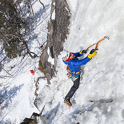 Jeff Mercier climbingIndiana Thivierge, WI6. The third repeat in 25 years, Les Palisades Charlevoix in Quebec, Canada