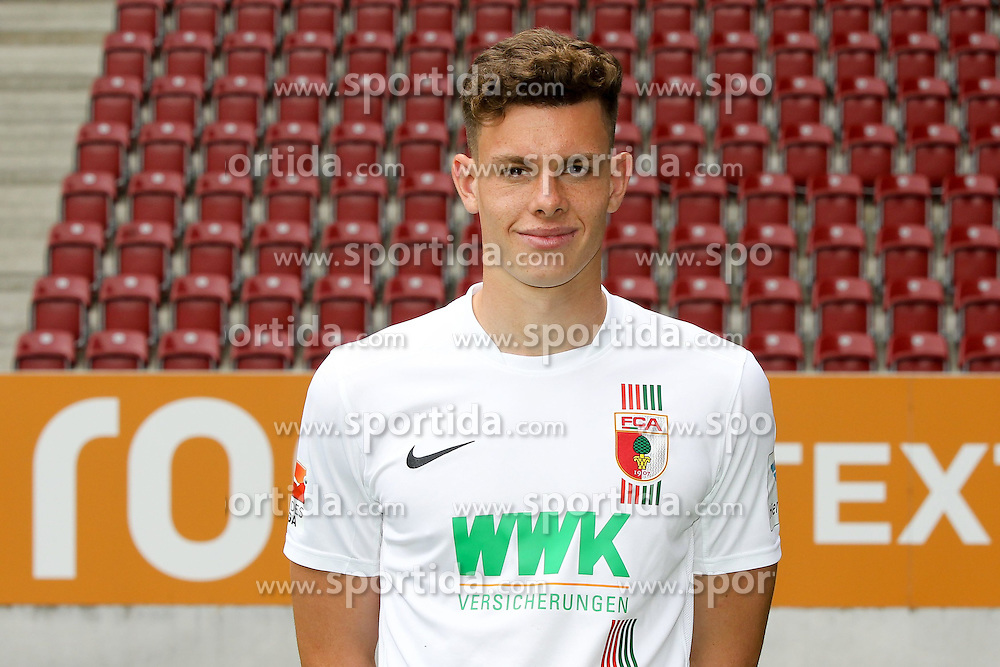 08.07.2015, WWK Arena, Augsburg, GER, 1. FBL, FC Augsburg, Fototermin, im Bild Max Reithaler #36 (FC Augsburg) // during the official Team and Portrait Photoshoot of German Bundesliga Club FC Augsburg at the WWK Arena in Augsburg, Germany on 2015/07/08. EXPA Pictures &copy; 2015, PhotoCredit: EXPA/ Eibner-Pressefoto/ Kolbert<br /> <br /> *****ATTENTION - OUT of GER*****
