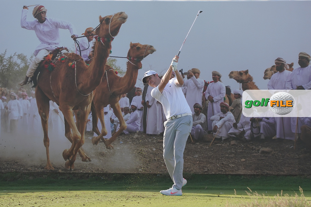 Steven Brown (ENG) on the 8th during Round 2 of the Oman Open 2020 at the Al Mouj Golf Club, Muscat, Oman . 28/02/2020<br /> Picture: Golffile | Thos Caffrey<br /> <br /> <br /> All photo usage must carry mandatory copyright credit (© Golffile | Thos Caffrey)