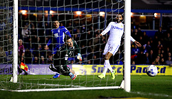 Robert Green of Leeds United makes a save from a shot by Che Adams of Birmingham City - Mandatory by-line: Robbie Stephenson/JMP - 03/03/2017 - FOOTBALL - St Andrew's Stadium - Birmingham, England - Birmingham City v Leeds United - Sky Bet Championship