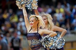Cheerleaders Girls perform during handball match between RK Cimos Koper and RK Gorenje Velenje in 8th Round of 1st NLB Leasing League 2012/13 on October 27, 2012 in Arena Bonifika, Koper, Slovenia. Cimos Koper defeated Gorenje Velenje 28-23. (Photo By Vid Ponikvar / Sportida)
