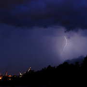 Storm over Portsmouth Naval Shipyard