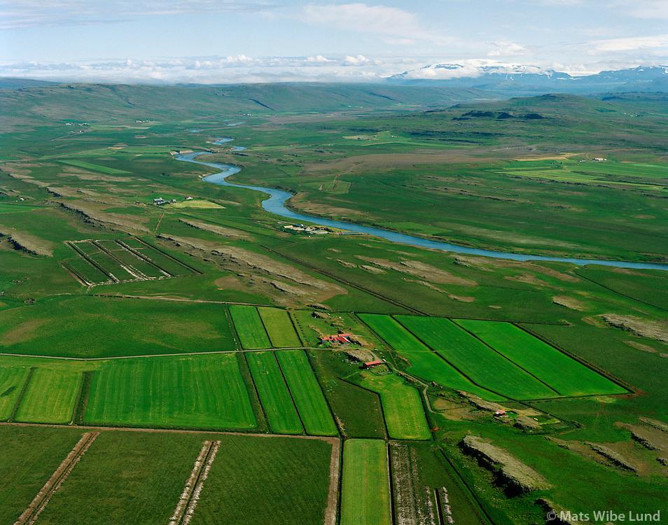 Miðgarður séð til austurs, Hvítá, Borgarbyggð áður Stafholtstungnahreppur / Midgardur viewing east, river Hvita, Borgarbyggd former Stafholtstungnahreppur.