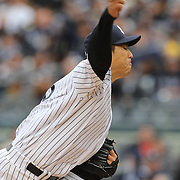 Hiroki Kuroda, Yankees, pitching during the New York Yankees V Baltimore Orioles home opening day at Yankee Stadium, The Bronx, New York. 7th April 2014. Photo Tim Clayton