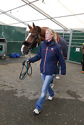 Bechtolsheimer Laura (GBR) - Mistral Hojris<br /> Departure of the horses from Liege Airport to Lexington<br /> Alltech FEI World Equestrian Games - Kentucky 2010<br /> © Dirk Caremans
