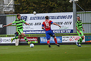 Forest Green Rovers Darren Carter(12) shoots at goal misses the target during the Vanarama National League match between Forest Green Rovers and Aldershot Town at the New Lawn, Forest Green, United Kingdom on 5 November 2016. Photo by Shane Healey.