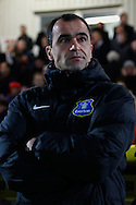 Picture by David Horn/Focus Images Ltd +44 7545 970036<br /> 25/01/2014<br /> Roberto Martinez Manager of Everton before the The FA Cup match at the Lamex Stadium, Stevenage.