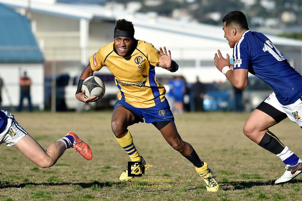 College Rugby - St. Patrick's College Wellington v Rongotai College at Evans Bay, Wellington, New Zealand on Saturday 2 July 2016. <br /> Photo by Masanori Udagawa. <br /> www.photowellington.photoshelter.com.