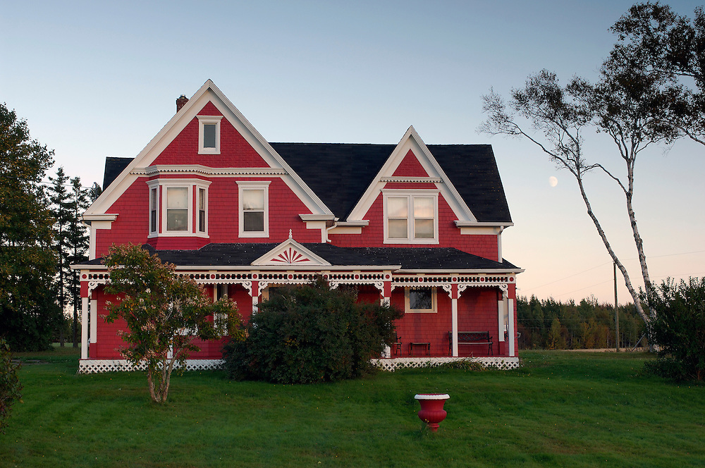 Red Farmhouse, Murray Harbor North, Prince Edward Island, Maritimes, Canada