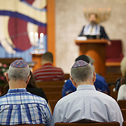FORT LAUDERDALE, FLORIDA, NOVEMBER 2, 2018<br /> Congregants during family Shabbat service at Temple Bat Yam of East Fort Lauderdale. The reform congregation of 220 families was congregating for the first time since the deadly shooting in Pittsburgh on October 27.<br /> (Photo by Angel Valentin/Freelance)