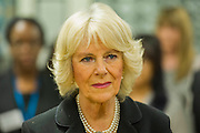The Duchess of Cornwall, Patron, Arthritis Research UK, visits and meets patients of the Adolescent Inpatient Unit at University College London Hospitals.  •	Her Royal Highness then tours a laboratory at the Arthritis Research UK Centre for Adolescent Rheumatology and meeting researchers and supporters. London 12 Feb 2015.